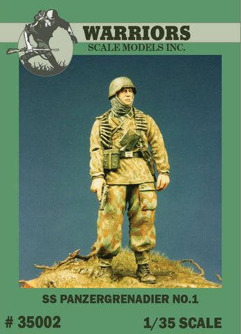 Warriors 1:35 WWII German SS Panzergrenadier No.1 Resin Figure Kit #35002 N/A Warriors