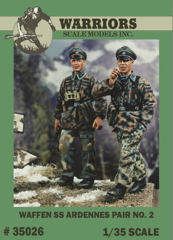 Warriors 1:35 Waffen SS Ardennes Pair No.2 - 2 Resin Figures Kit #35026 N/A Warriors