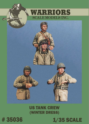 Warriors 1:35 US Tank Crew Winter Dress 4 Resin Bust Figures Kit #35036 N/A Warriors