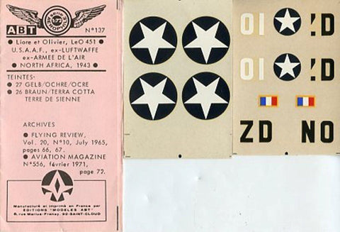 ABT Decal 1:72 USAAF Luftwaffe North Africa 1943 #137 N/A ABT Decal