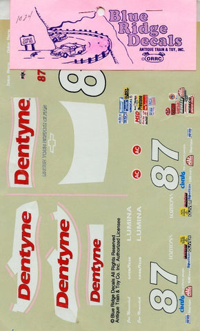 Blue Ridge Decals 1:24 1:25 Dentyne #87 Brush Your Breath Clean #1024 N/A Blue Ridge Decals