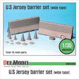 US Jersey Barrier set (Wide type)     Wide type Jersey Barrier with accessaries.     Total 16 resin parts