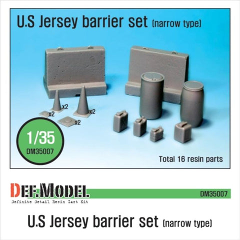 DEF Model 1:35 US Jersey Barrier set (Small type) #DM35007 N/A DEF Model