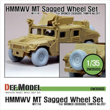 HMMWV MT Sagged Wheel set for Bronco 1/35 M1114     1 spare Wheel and 4 sagged wheels with wheel caps     Naturally weight represented     Detailed wheel cap parts     Total 9 resin parts with easy mask seal
