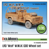 LRD Wolf 'W.M.I.K' G90 Sagged Wheel set for Hobbyboss 1/35     G90 5 sagged wheels     Correct tire patterns,     Total 5 resin parts