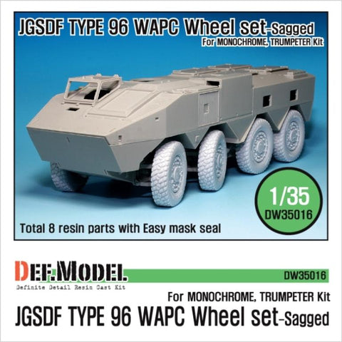DEF Model 1:35 JGSDF Type 96 WAPC Sagged Wheel set for Trumpeter #DW35016 N/A DEF Model