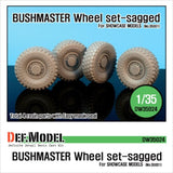 Australian IMV Bushmaster Sagged Wheel set for Showcase 1/35     4 sagged wheels and Easy wheel mask     Total 4 resin parts & Wheel mask