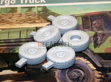 "DEF Model 1:35 M1078 LMTV Truck ""MV/T"" Sagged Wheel set for Trumpeter #DW35031"