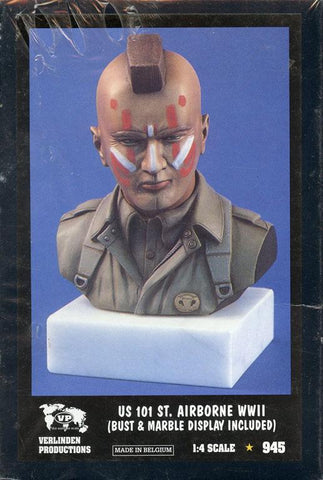 Verlinden Productions 1:4 WWII US 101 St.Airborne - Bust & Marble Display #945 N/A Verlinden