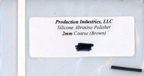 Production Industires LLC Silicone Abrasive Polisher 2mm Coarse Brown #2cb N/A Production Industires LLC