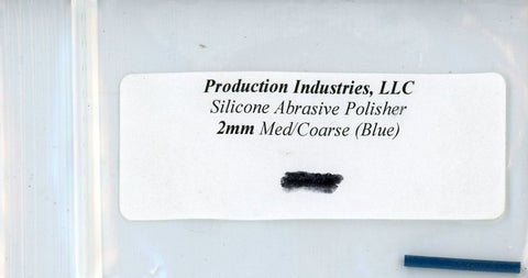 Production Industires LLC Silicone Abrasive Polisher 2mm Med Coarse Blue #2mcb N/A Production Industires LLC