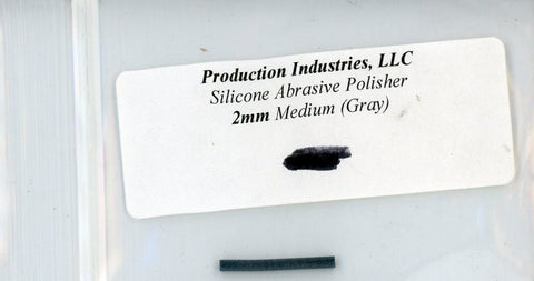 Production Industires LLC Silicone Abrasive Polisher 2mm Medium Gray #2mg N/A Production Industires LLC