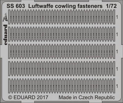 Eduard 1:72 Luftwaffe cowling fasteners Color PE Detail Set For #SS603 N/A Eduard