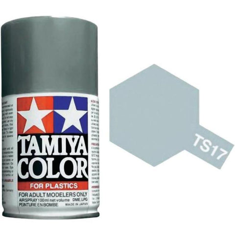 Tamiya Color for Plastics Aluminum Silver Lacquer Spray Paint 100ml Can #TS-17 N/A Tamiya