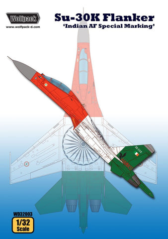 Wolfpack 1:32 Su-30 K Flanker Indian AF Special Marking Decal #WD32003 N/A Wolfpack Design