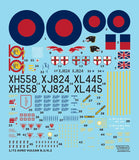 Wolfpack 1:72 Avro Vulcan B.2 K.2 Decal Part.1 for Airfix Decal #WD72001