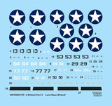 Wolfpack 1:72 F4F-4 Wildcat Part.2 Landbase Wildcat Guadalcanal Decal #WD72005