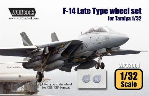 Wolfpack 1:32 F-14 Tomcat Late Wheel Set for Tamiya Kit - Resin #WP32004 N/A Wolfpack Design
