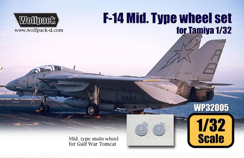 Wolfpack 1:32 F-14 Tomcat Mid Type Wheel Set for Tamiya Kit - Resin #WP32005 N/A Wolfpack Design