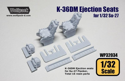 Wolfpack 1:32 K-36DM Ejection Seats for Su-27 Trumpeter Kit - Resin #WP32034 N/A Wolfpack Design