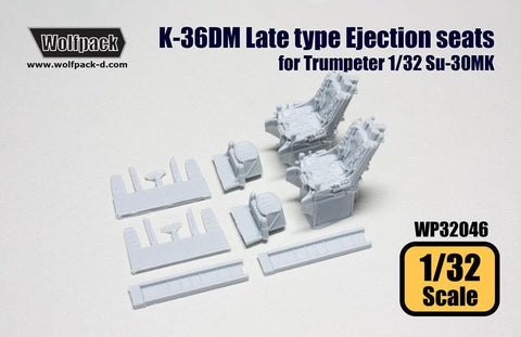 Wolfpack 1:32 K-36DM Late Type Ejection Seats for Trumpeter Su-30MK #WP32046 N/A Wolfpack Design