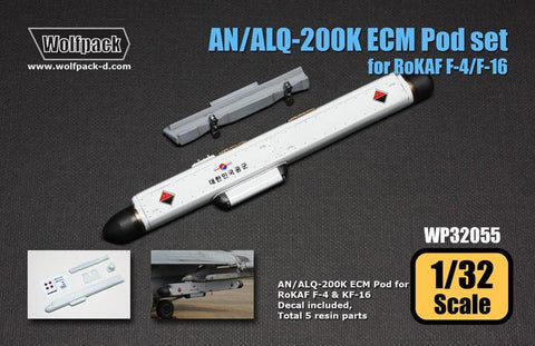 Wolfpack 1:32 AN/ALQ-200K ECM Pod Set for RoK AF F-4 F-16 Resin Detail #WP32055 N/A Wolfpack Design