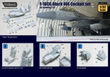 Wolfpack 1:32 F-16CG Block 40E Cockpit Set for Academy - Resin Detail #WP32060
