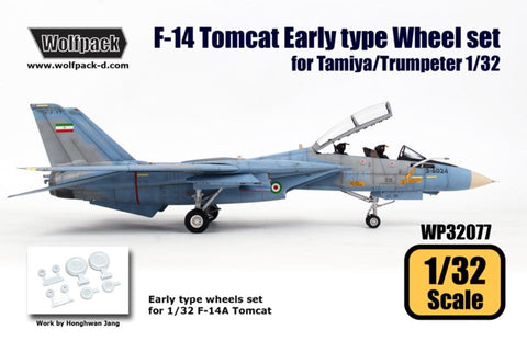Wolfpack 1:32 F-14 Tomcat Early Type Wheel Set for Tamiya Trumpeter #WP32077 N/A Wolfpack Design