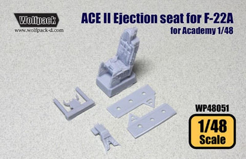 Wolfpack 1:48 ACE II Ejection Seat for F-22A - Resin Detail #WP48051 N/A Wolfpack Design
