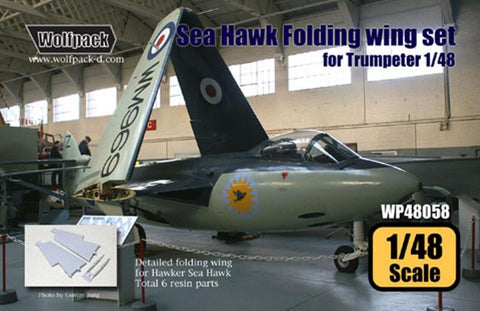 Wolfpack 1:48 Hawker Sea Hawk Folding Wing Set for Trumpeter Kit -Resin #WP48058 N/A Wolfpack Design