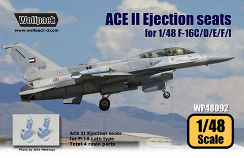 Wolfpack 1:48 ACE II Ejection Seat for F-16 C/D 2pc - Resin Detail #WP48092U N/A Wolfpack Design