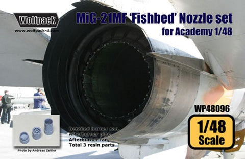 Wolfpack 1:48 MiG-21 MF Fishbed Nozzle Set for Academy - Resin Detail #WP48096 N/A Wolfpack Design
