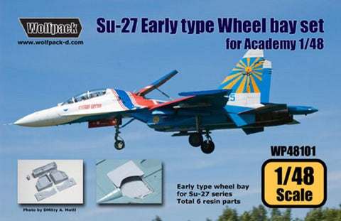 Wolfpack 1:48 Su-27 Flanker Early Type Wheel Bay Set for Academy Resin #WP48101 N/A Wolfpack Design