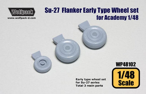 Wolfpack 1:48 Su-27 Flanker Early Type Wheel for Academy Resin Detail #WP48102 N/A Wolfpack Design