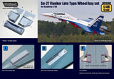 Wolfpack 1:48 Su-27 Flanker Late Type Wheel Bay Set for Academy - Resin #WP48108