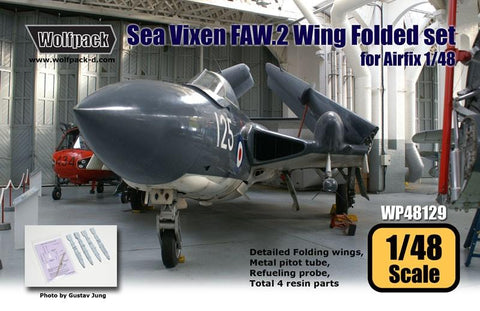 Wolfpack 1:48 DH Sea Vixen FAW.2 Folding Wing Set for Airfix - Resin #WP48128 N/A Wolfpack Design