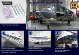 Wolfpack 1:48 DH Sea Vixen FAW.2 Folding Wing Set for Airfix - Resin #WP48128