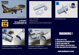 Wolfpack 1:48 A-7 Corsair II TF41 Nozzle Set for Hasegawa -Resin Detail #WP48163