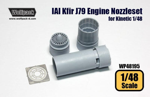 Wolfpack 1:48 IAI Kfir Engine J79 Nozzle Set for Kinetic Kit - Resin #WP48195 N/A Wolfpack Design