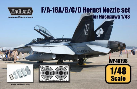 Wolfpack 1:48 F/A-18 A/B/C/D Hornet F404 Engine Nozle Set for Hasegawa #WP48198 N/A Wolfpack Design