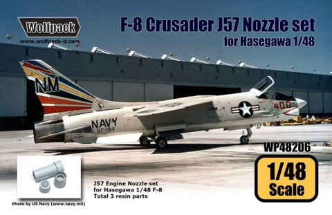 Wolfpack 1:48 F-8 Crusader J57 Engine Nozzle Set for Hasegawa Kit Resin #WP48206 N/A Wolfpack Design
