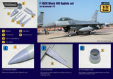 Wolfpack 1:72 F-16 CG Block 40E Update Set for Academy - Resin Detail #WP72012