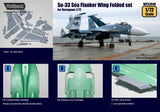 Wolfpack 1:72 Su-33 Sea Flanker Wing Folded Set for Hasegawa -Resin #WP72040 N/A Wolfpack Design