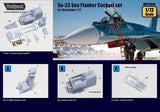Wolfpack 1:72 Su-33 Sea Flanker Cockpit Set for Hasegawa - Resin Detail #WP72043