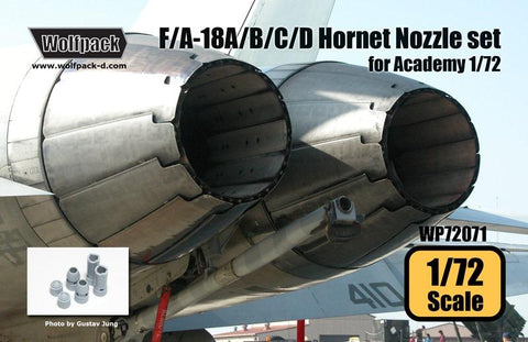 Wolfpack 1:72 F/A-18 A/B/C/D Hornet Nozzle Set for Academy - Resin #WP72071 N/A Wolfpack Design