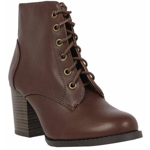 Women's Lace Up Chunky Heel Boots - Must Have Shoes and More