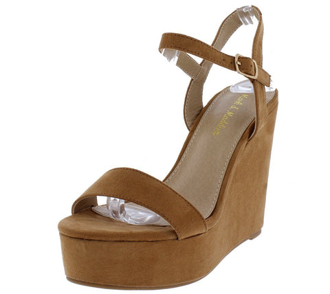 4de2e67f224 Open Toe Suede Platform Wedge Sandal - Must Have Shoes and More