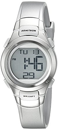 9f0d07b3a65 Armitron Womens Silver-Tone Chronograph Digital Sport Watch - Must Have  Shoes and More