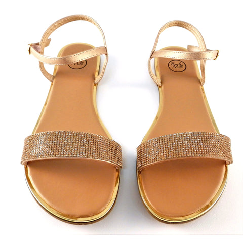 Beverly Mills Rhinestone Sandals - Must Have Shoes and More
