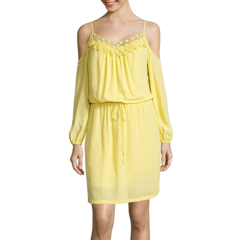 Bisou Bisou® 3/4-Sleeve Cold-Shoulder Blouson Dress - Must Have Shoes and More
